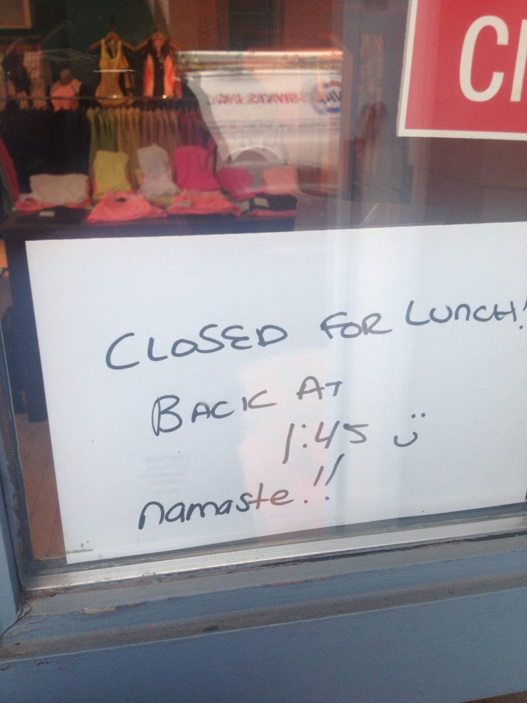 "i don't believe your use of ""namaste"" in this instance."