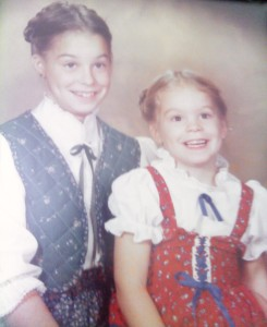 my mother had this phase of dressing us like amish children.