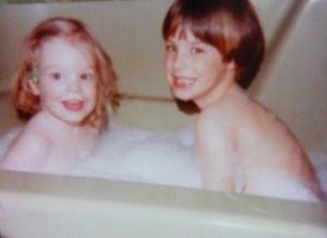 """token """"kids in bath"""" photo."""